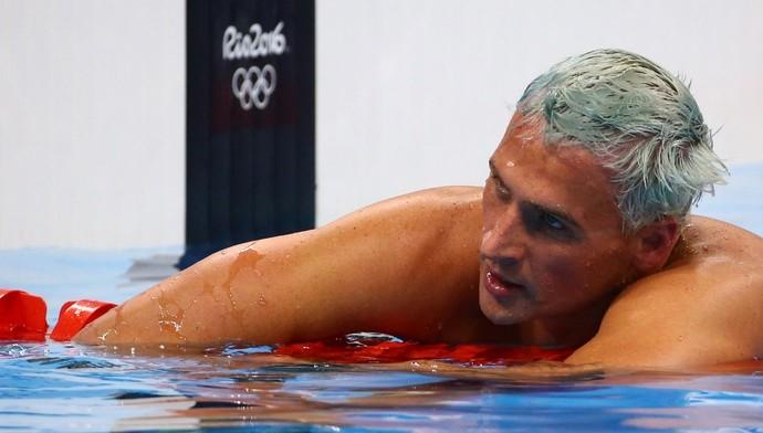 Imagem: Ryan Lochte na Olimpíada Rio 2016.