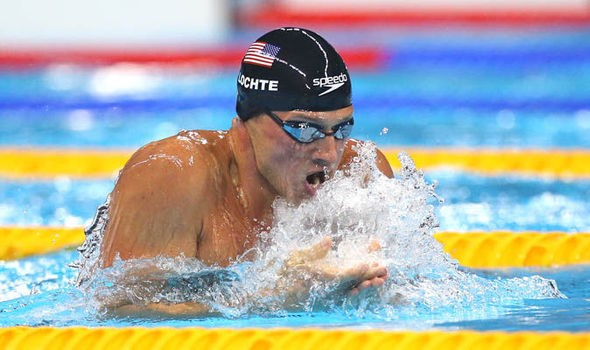 Imagem: Ryan Lochte na Rio 2016.